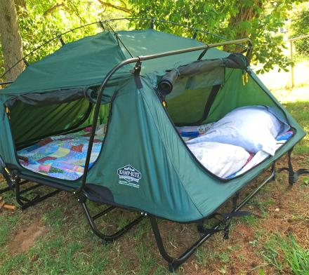 KampRite Double Tent Cot Is A Pullout Bed In Tent Form
