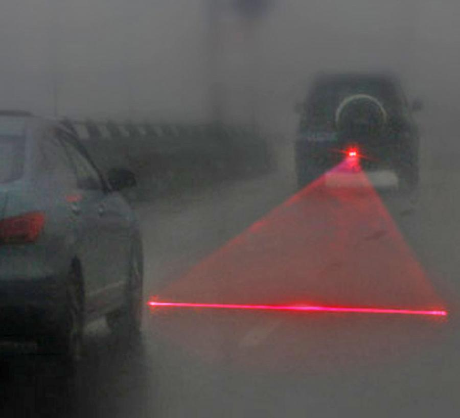 This Laser Attaches To The Back Of Your Car To Prevent