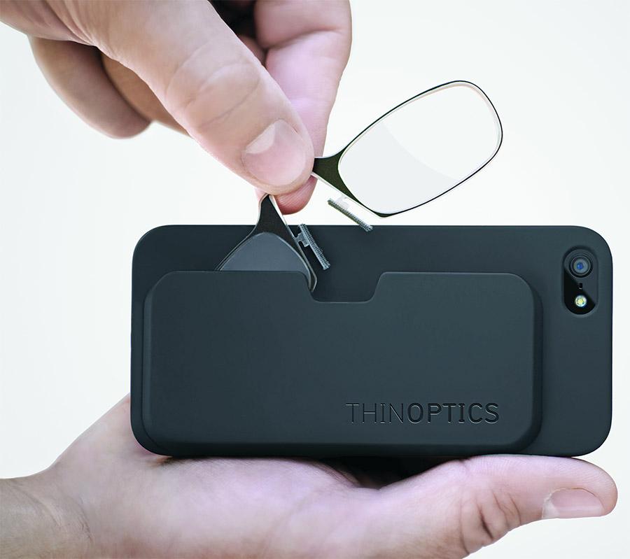 ThinOPTICS Phone Case Holds SuperThin Portable Reading