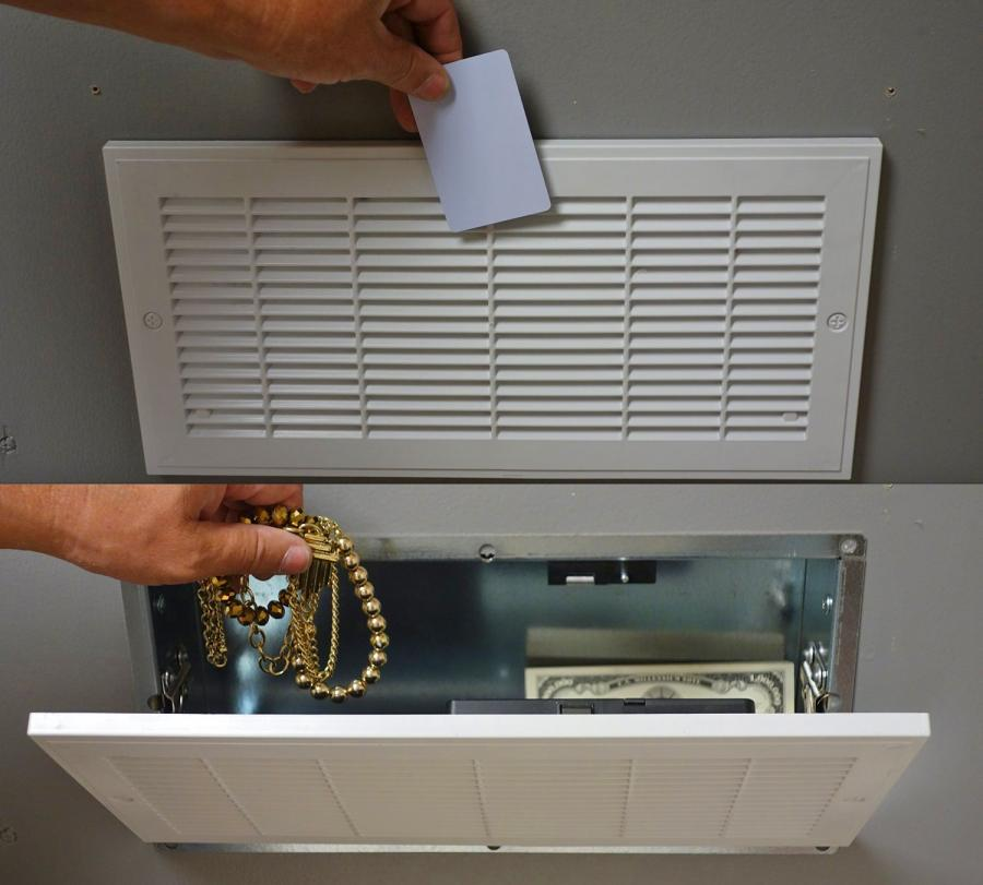 This Secret Vent Stash Safe Requires an RFID Security Card