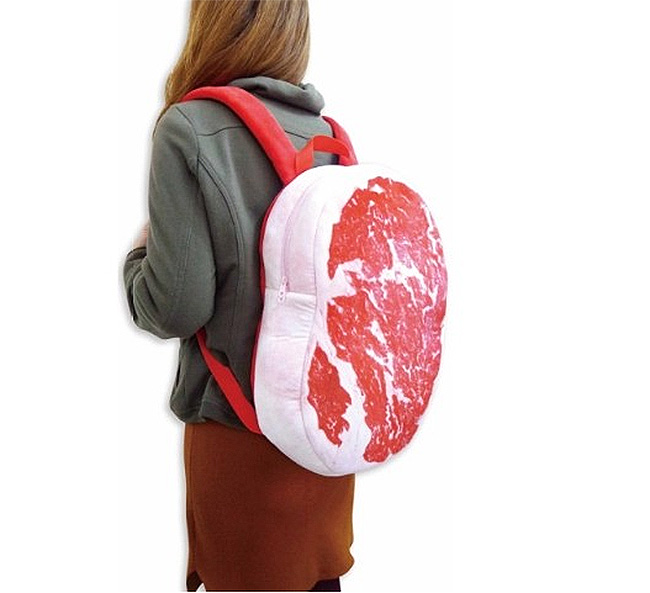 This Steak Backpack Looks Like a Giant Slab of Meat