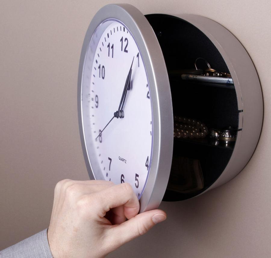 kitchen wall clock runner rugs this swings open to reveal a secret hidden safe ...