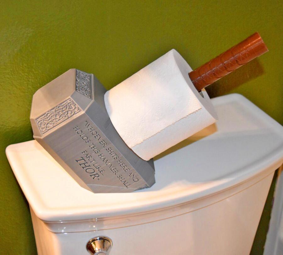 Thors Hammer Toilet Paper Holder