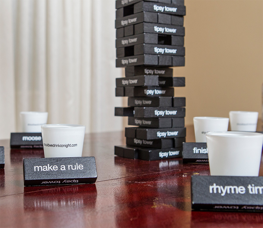 Tipsy Tower Is Jenga Made Into A Drinking Game