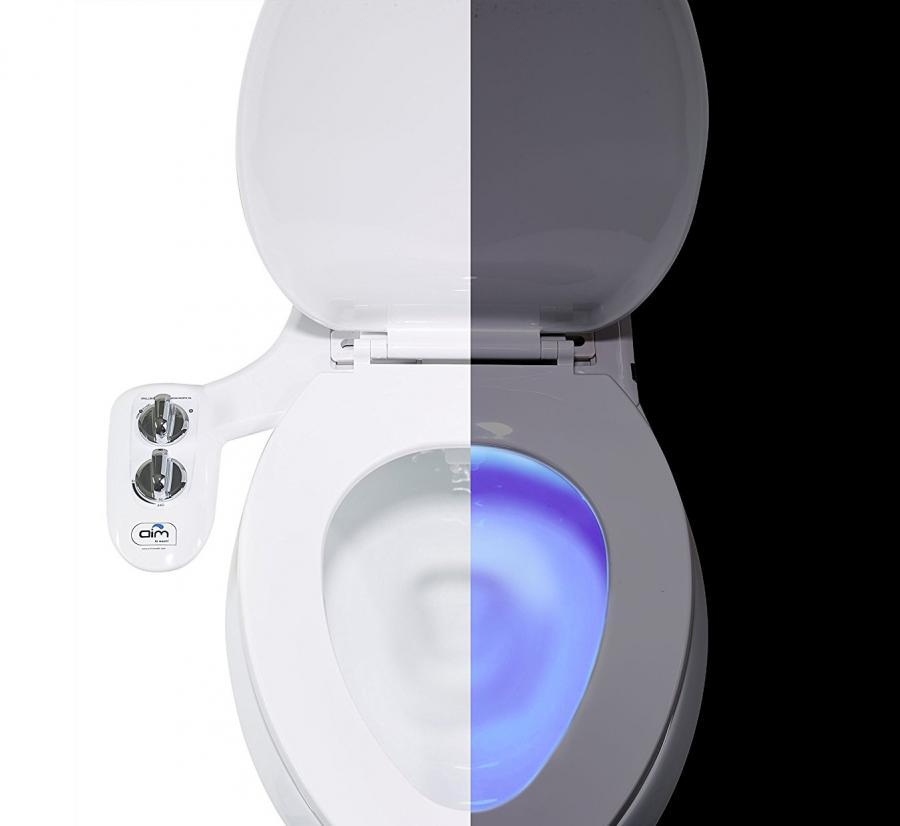 Toilet Bidet Attachment and Toilet Night Light Combo