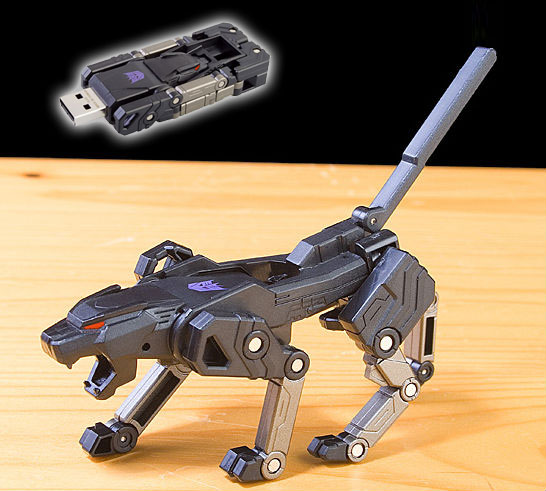 This Transforming USB Flash Drive Turns Into a Leopard When Not In Use