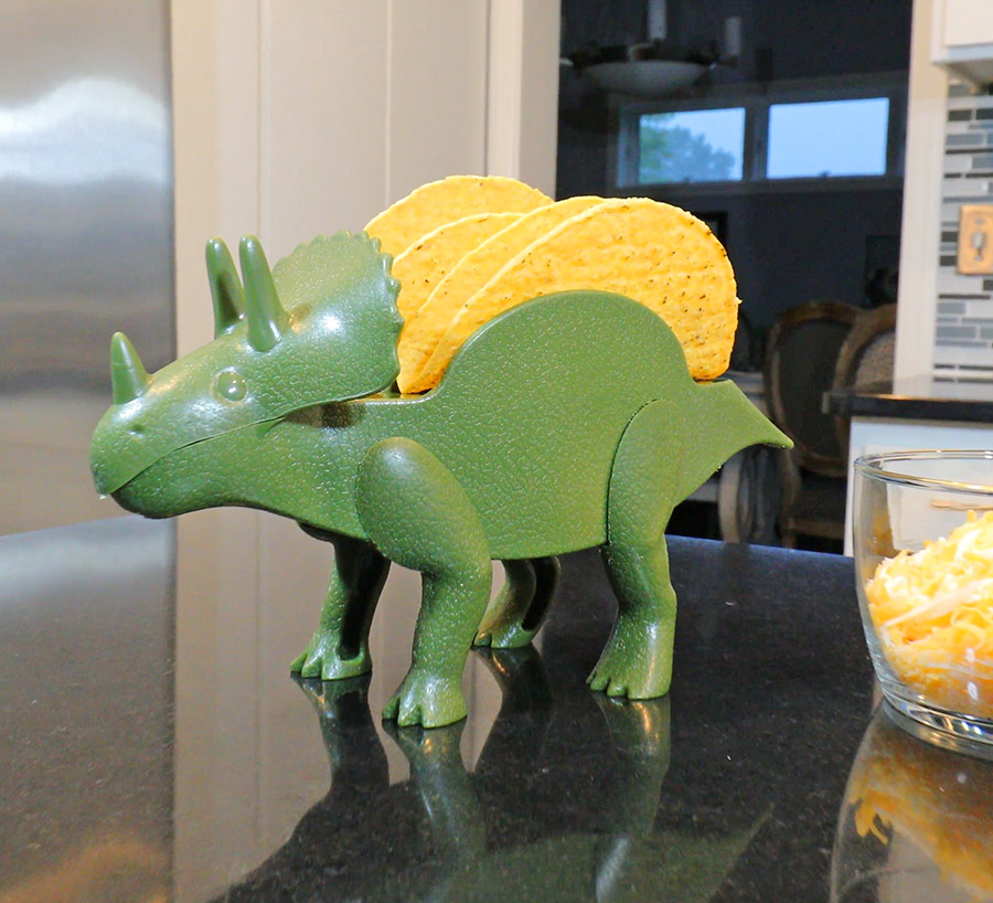 The TriceraTaco Is a Dinosaur That Holds Your Tacos