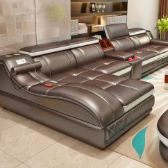 Leather Couch And Chair Camping With Shade Canopy Ultimate Giant Sectional Integrated Massage You Ve Surely Seen The Bed Probably Even 2 0 But Now There S It Looks Pretty Amazing