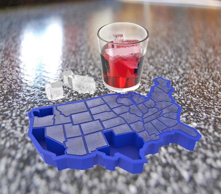 United States Shaped Ice Cube Tray