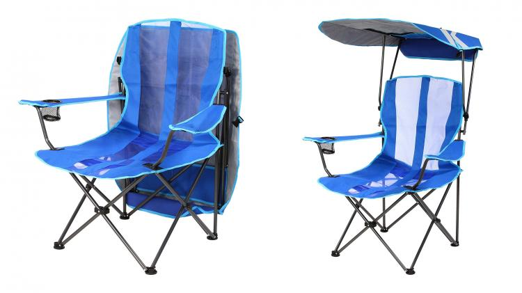 folding canopy chair rentals nyc lawn with a rain sun guard kelsyus pull up
