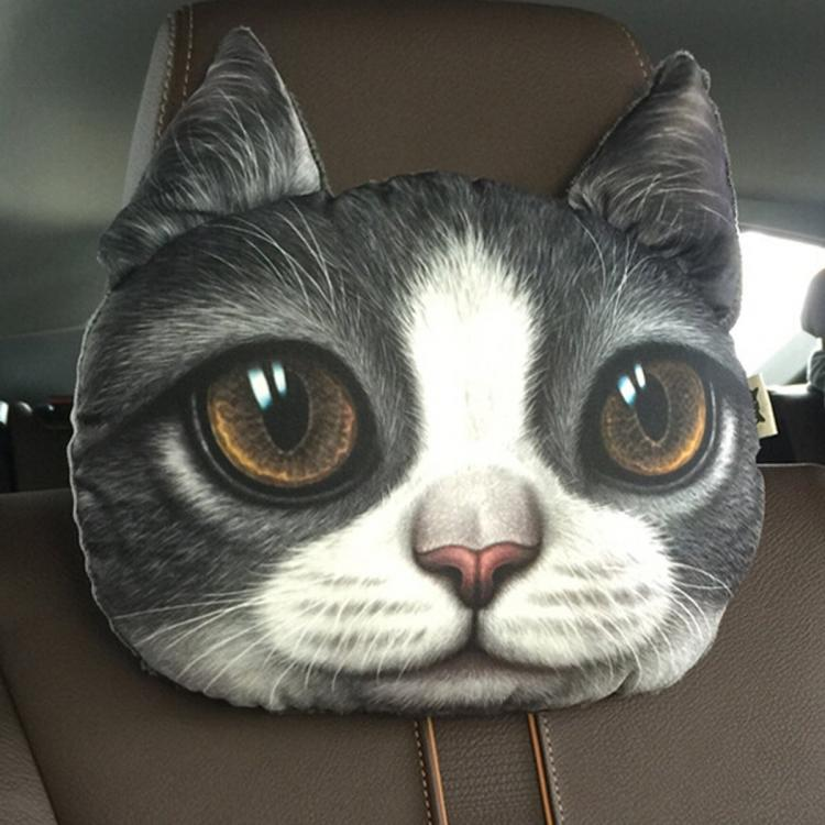 Cat and Dog Headrest Pillows For Your Car