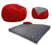 Convertible Bean-Bag Chair Converts From a Chair To a ...