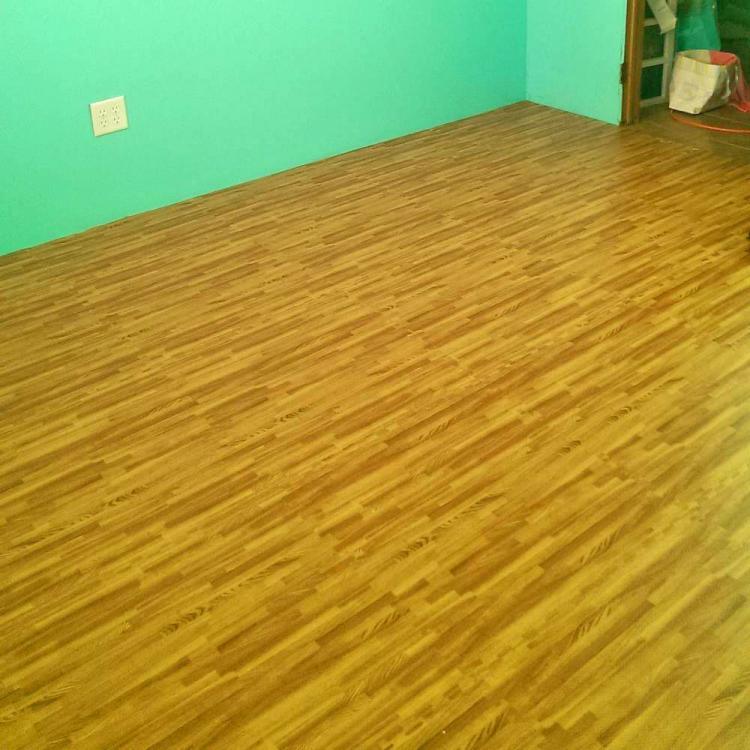 Faux Hardwood Floor Interlocking Foam Tiles 25Pack