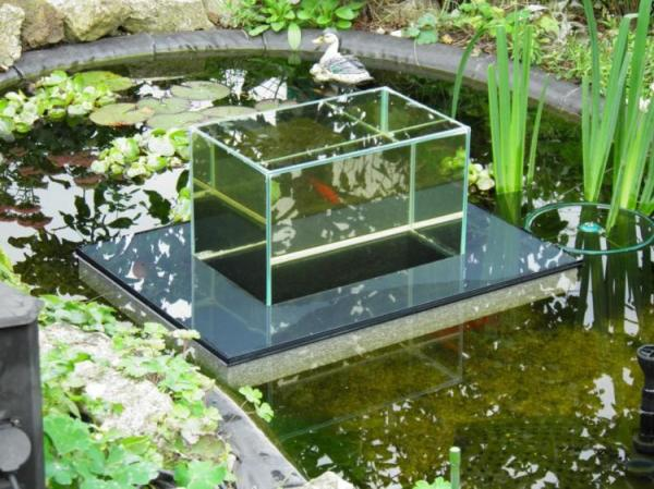 Floating Fish Koi Pond Observatory Lets You View Your Fish