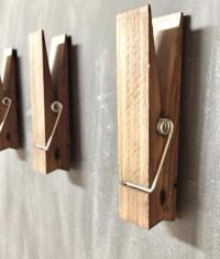 These Giant Clothespins Can Hold Towels, Drawings, Or Photos