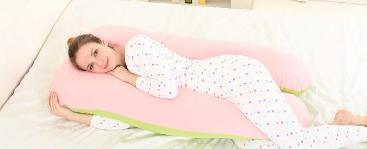 Giant UShaped Body Pillow  Cradling Pregnancy Pillow