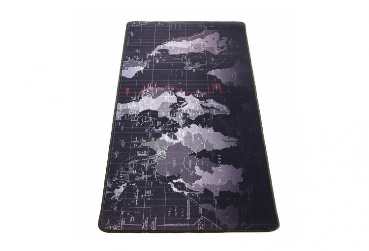 Giant Black World Map Mouse Pad To Assist In World Domination