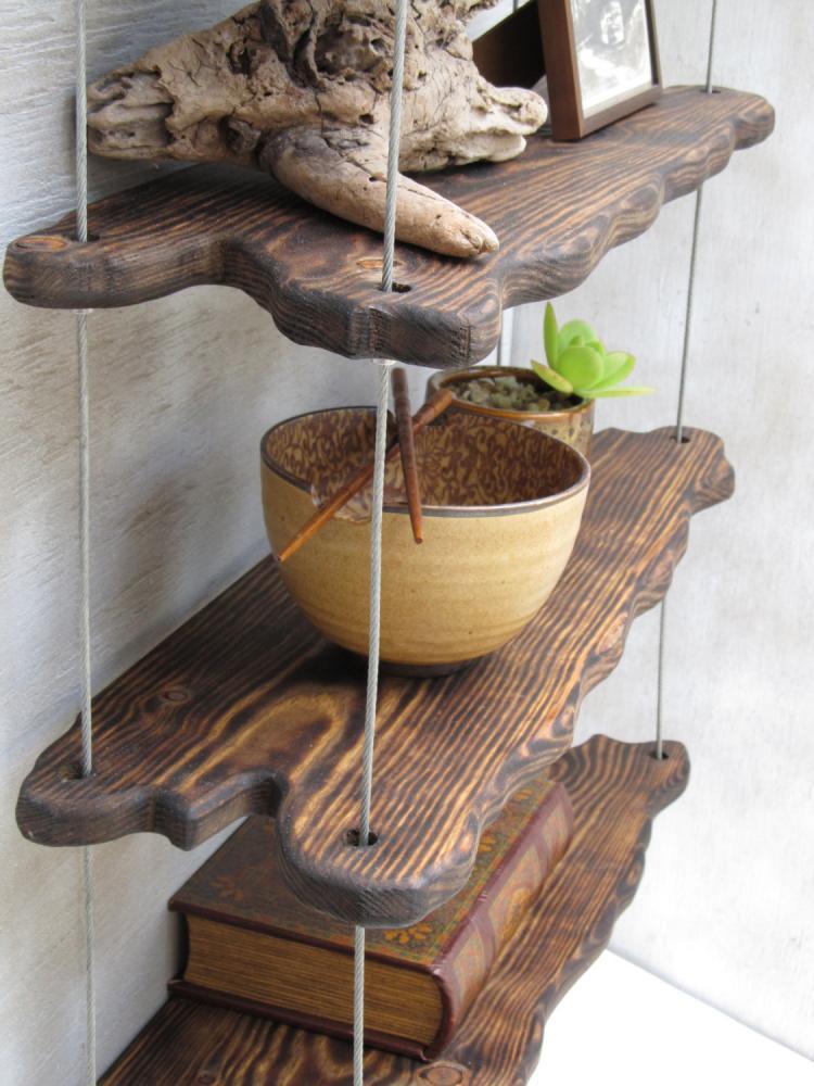 Hanging Driftwood Shelves