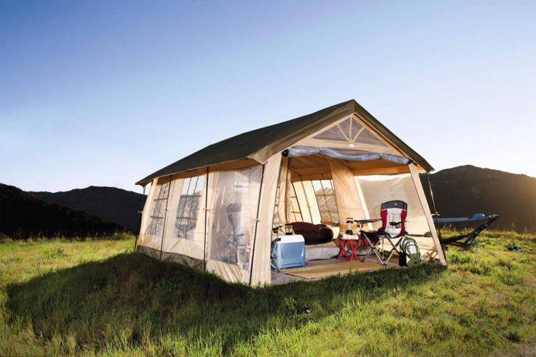 Giant House Shaped Tent With a Front Porch  Fits 10 People