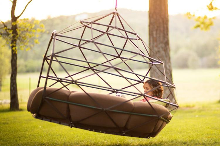 Kodama Zomes A Caged Hanging Outdoor Hammock
