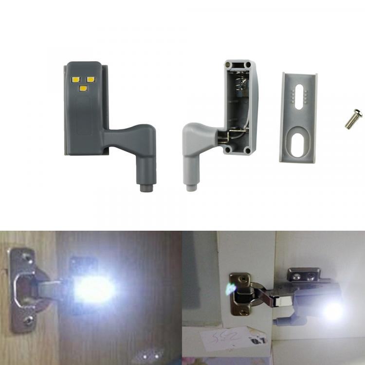 LED Cabinet Hinge Lights Turn On When Door Is Opened