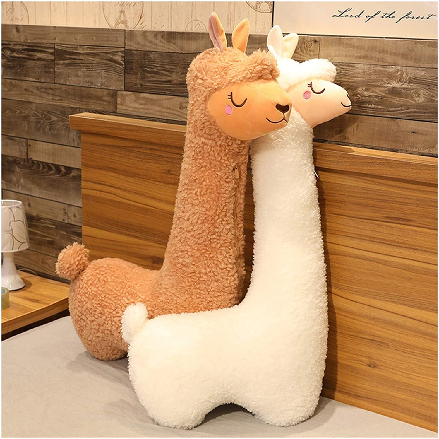 this life size llama body pillow is the