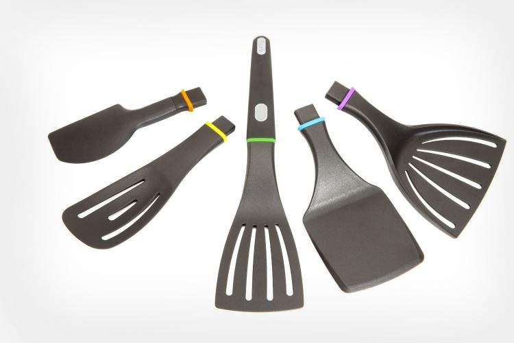 kitchen spatula best remodels this modular handle can use 5 different utensils quirky click n cook set