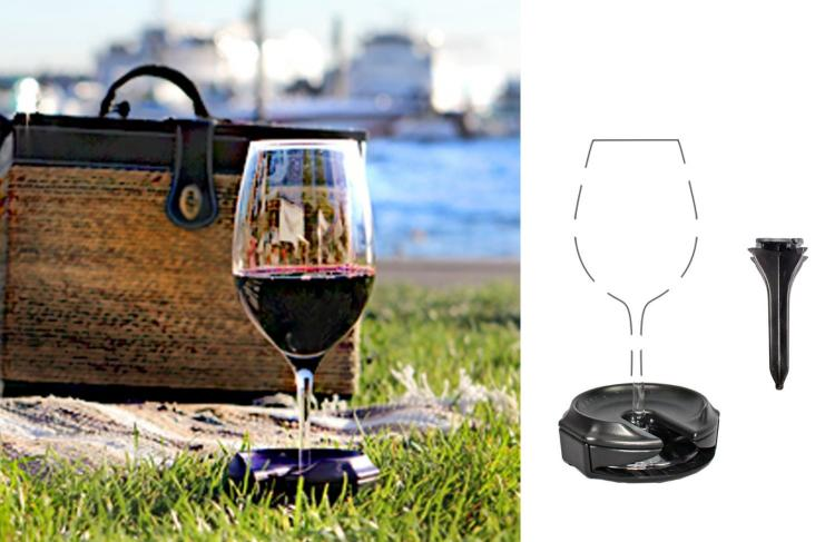 Outdoor Wine Glass Holder Straps Drink To Armrest To