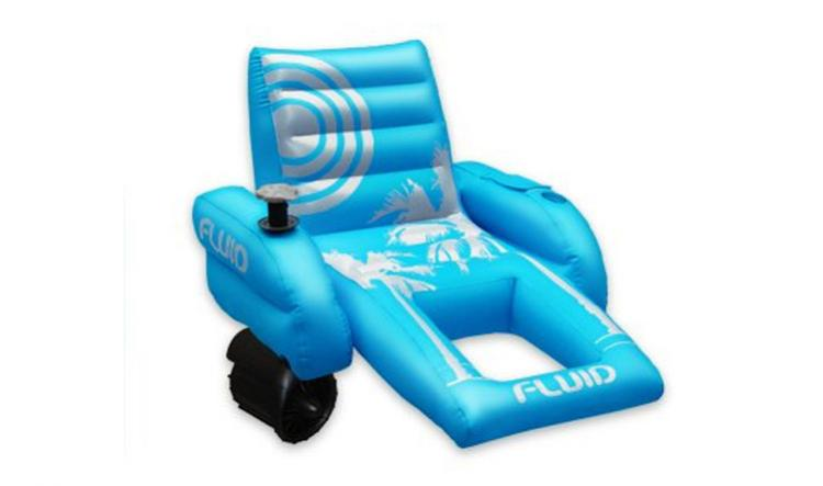 motorized easy chair puppy dog palm beach pool lounger inflatable with a motor and joystick