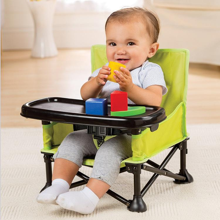 portable folding high chair wedding covers aliexpress highchair folds up for feeding the baby on go summer infant pop n sit booster seat