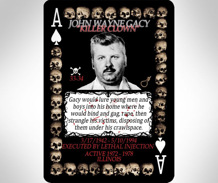 Serial Killer Playing Cards