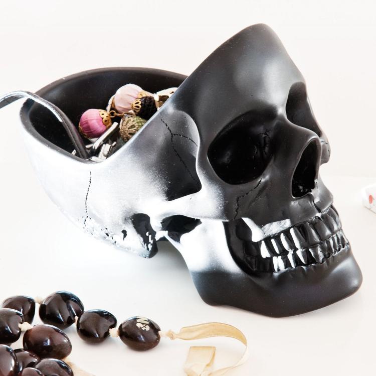 Skull Shaped Desk Organizer