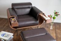 El Purista Leather Smoking Arm Chair With Slide Out ...