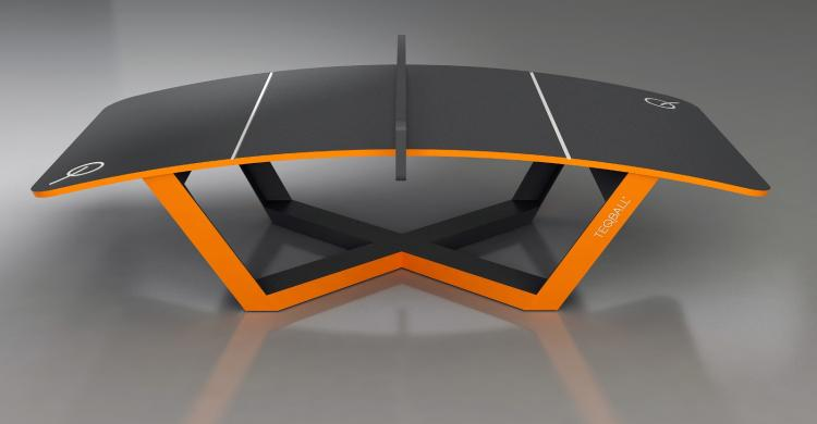 TEQBALL A Curved Ping Pong Table That You Play With a