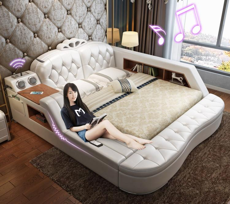 The Ultimate Bed With Integrated Massage Chair Speakers