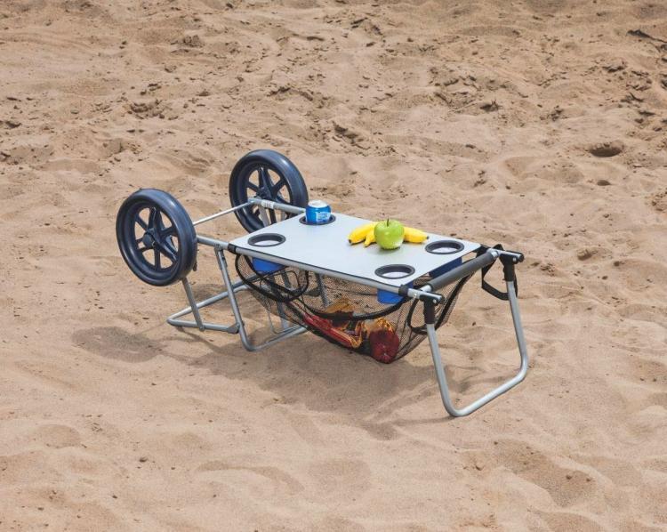 Wonder Cart A Beach Cart That Doubles as a Table