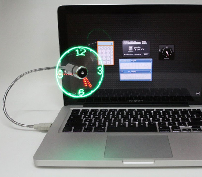 USB Powered Fan Clock