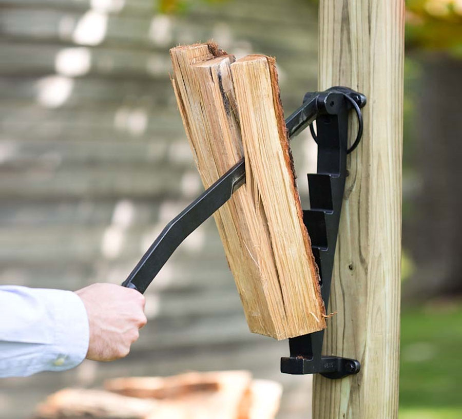 Stikkan A Wall Mounted Log Splitter For Cutting Up Kindling