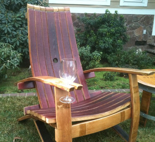 Wine Glass Holding Patio Chair
