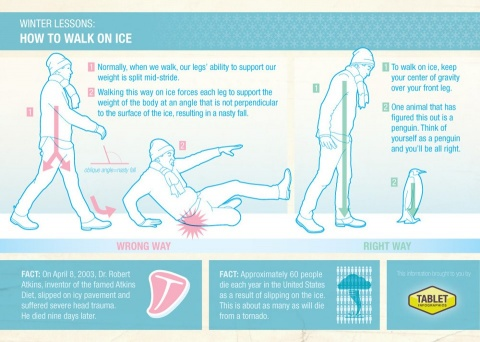 walk on ice