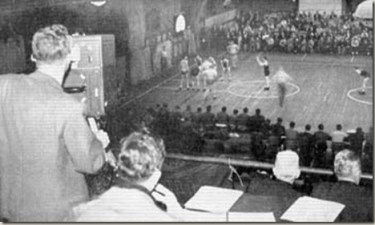 First televised basketball game