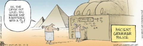 Grammar cartoon