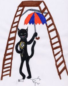 black cat ladder