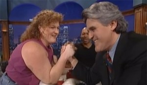 Dot Jones arm wrestle