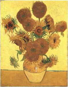 Still-Life--Vase-with-Fifteen-Sunflowers