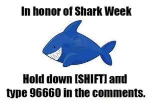 Shark Week, Dog Days, Presidential Jokes, Raspberry Tart Day