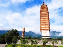 Two Of The Three Pagodas