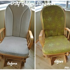 How To Reupholster A Chair Cushion Corner Cheap Covers Uk Simple Diy Glider Slipcover Tutorial  Refashion Your