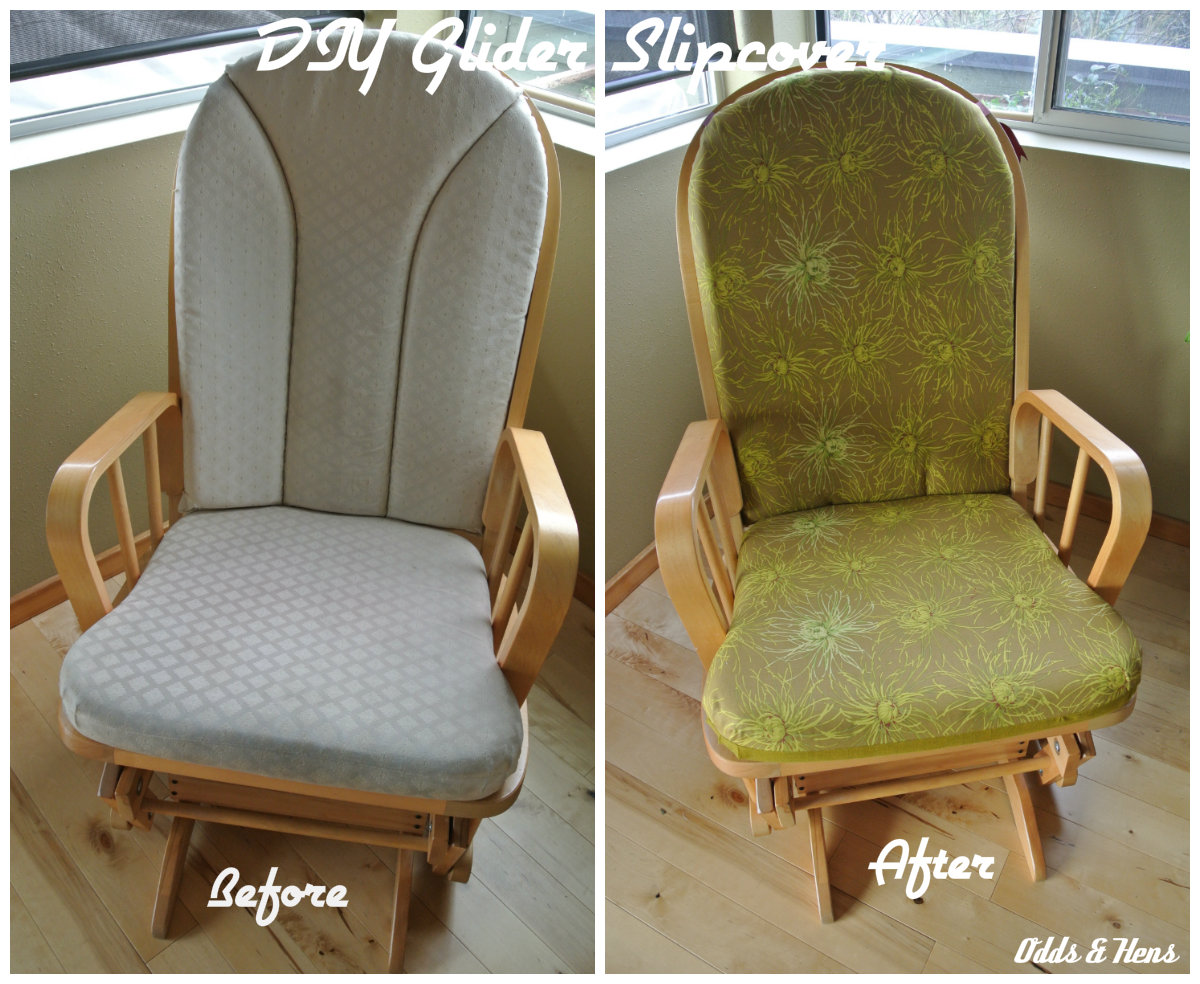 slipcover for glider rocking chair behind the com 2 simple diy tutorial  refashion your