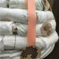 Diaper Skep for a Bee or Beehive Themed Shower: Tutorial